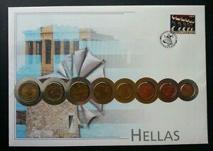 Greece Euro Coin 2002 Currency Money FDC (coin cover)  希腊欧元邮币封