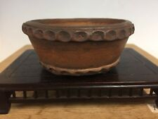 "Handmade Shohin Size Tokoname Bonsai Tree Pot Made By Fushu. 4"""