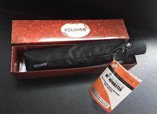Kolumbo Ultra slim Windproof Umbrella BRAND NEW IN BOX BLACK Tested To 55mph ..