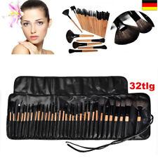 VANDER 32tlg Makeup Pinsel Set Holzfarbe Schminkpinsel Kosmetik Make-up Brush