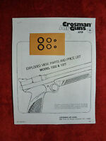 Crosman 1322 1377   Two Seal Kits + Exploded View & Parts List + Seal ID Guide