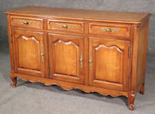 French Louis XV Style Solid Cherry Kindel Sideboard Buffet C1950