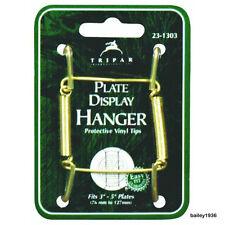 "Plate Hanger 3"" - 5"" BRASS Wire Display Easel TRIPAR 23-1303"