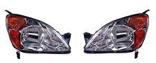Fits 02 03 04 Honda CR-V Headlight Pair Set Both NEW Headlamp Front