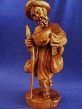 Hand Carved Wood Sculpture 1 Pc, Wanderer, Traveler, Planter, Johnny Appleseed
