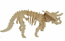 Triceratops Dinosaur 3D Jigsaw Wooden Model Kit Decorate Jurassic Puzzle Gift