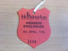 08/04/1996 Hutingdon Races - Horse Racing Badge (good condition with no apparent