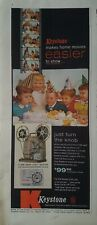 1956 Keystone movie camera little boys girls birthday party hats vintage ad