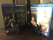 THE SOCIAL NETWORK & SILVER LINING PLAYBOOK- 2 Blu-Ray Movies, Region B & ABC