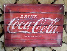 RETRO MAXI Blechschild DRINK Coca Cola Größe 40x30cm GEWÖLBT         71-3211-D