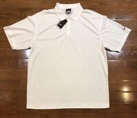 Mens Size XL Nike Polo Golf Shirt Solid White Short Sleeve 363807-100