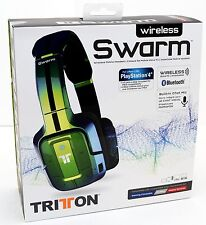 NEW Mad Catz Tritton Wireless Swarm Headset Bluetooth PS4/PS3/PC/iPhone 6+ GREEN