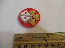 Barbie Doll Size Snack Cake Chips Sandwich Plate Red Serve Lunch Food Yummy Part