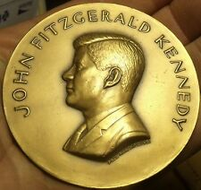 Massive 70mm Gem Unc John F Kennedy Solid Bronze Inauguration Medallion~Free Shi