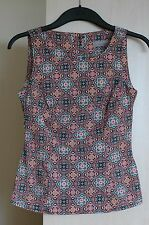 Dorothy Perkins cotton geometric sleeveless top size Petite 4