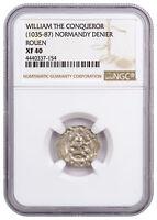 (c. 1035-87) Normandy Rouen Silver Denier of William Conqueror NGC XF40 SKU46872
