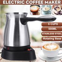 Stainless Steel Electric Drip Coffee Maker Pot Greek Turkish Espresso Percolator