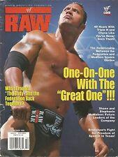 OCTOBER 1999 WWF RAW WRESTLING MAGAZINE THE ROCK DWAYNE JOHNSON WRESTLEMANIA