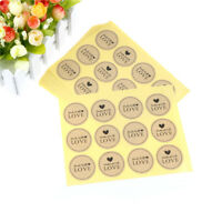 120PCS Hand Made with Love Paper Labels Sticker Seal Stickers for Gift`Packaging