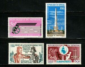 Senegal stamp #C33 - 36, MHOG, VVF, airmails, 1963