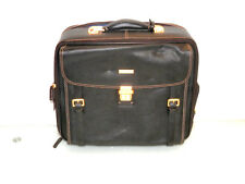 Brooks Brothers Peal and Co Brown Pebbled Leather Suitcase Wheeled Briefcase