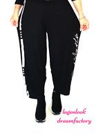 MYO-Lagenlook schmale Ballonhose Jogpants Print schwarz 42 44 46 48 50 52 54 56