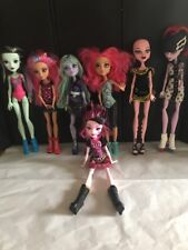 Monster High Doll All With Shoes And Clothes Mixed Collection Lot Of 7