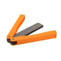 Double Side Diamond Knife Sharpener Stone Folding Pocket Sharpening 400/600 Grit