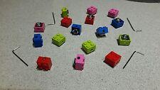 4x Locking Lego Dust caps valve covers universal fit car van bike alloy wheels