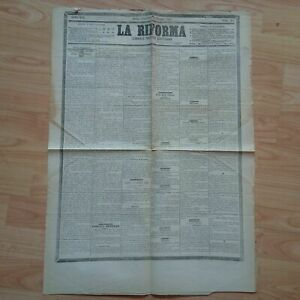 Giornale d'Epoca Politico Quotidiano La Riforma 11/06/1882 LOTTO16