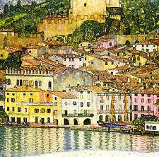 Gustav Klimt Malcesine Sul Garda Canvas Print 24x24 inches