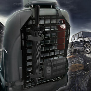 Car Tactical Rigid MOLLE Panel Vehicle Seat Back Shooting Storage 21 x 14in
