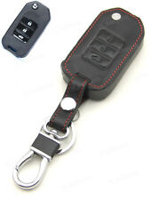 Leather Case Cover Holder For Honda Civic Crider Jade CRV Accord Remote Flip Key