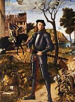 PAINTING PORTRAIT CARPACCIO YOUNG KNIGHT LANDSCAPE POSTER ART PRINT BB12557A