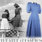 VINTAGE LAURA ASHLEY 50s DRESS 12 10 40 38 8 6 40s WAR BRIDE WEDDING ROCKABILLY