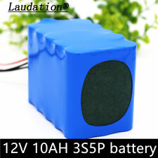 DC 12V 10Ah 3S5P Rechargeable Li-ion  Battery rechargeable battery WITH BMS