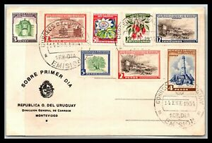 GP GOLDPATH: URUGUAY COVER 1954 FIRST DAY COVER _CV779_P03