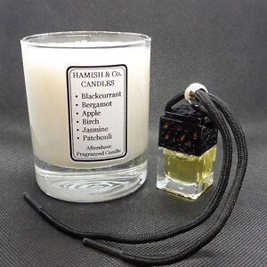 HC-M06 - creed Like Aftershave Fragranced Soy Wax Candle & Hanging Air Freshener