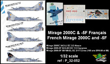 [FFSMC Productions] Decals 1/32 Mirage 2000C et -5F Français (ref P_32-052)