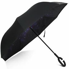 Reflective Reverse Umbrella,Inverted CHandle Umbrella,Windproof Umbrella Skystar
