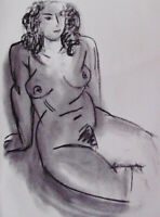 MATISSE -  SEATED NUDE  - DERRIERE LE MIROIR LITHOGRAPH - 1952 - FREE SHIP US !!