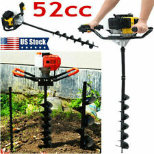 3Hp 52Cc Post Hole Digger Gas Powered Earth Auger Borer Fence Ground Drill Usa