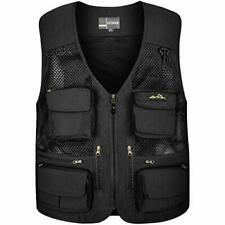 Outdoor Fly Fishing Vest with Multi-Pockets for X-Large Style 2 Black