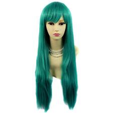 Wiwigs Fabulous Long Straight Blue,Red,Black,Green,White Skin Top Wigs