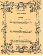Book of Shadows Spell Pages ** Common Herbs Used In Smudging ** Wicca Witchcraft