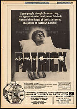 PATRICK_/_THIRST__Original 1979 Trade AD promo / horror poster__RICHARD FRANKLIN