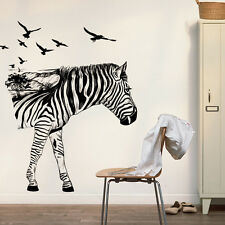 Zebra Imaging Bedroom Home Decor Removable Wall Stickers Decals Decoration