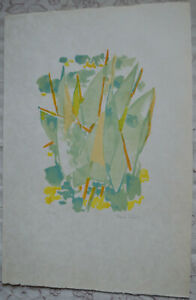 Lithographie Claude Schurr Voiles Blanches Signee Numerotee Serie Riviera Tbe