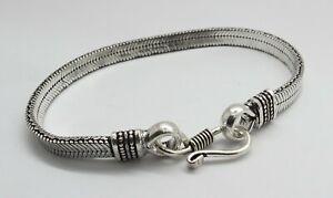1 Piece Silver Bracelets Bali Snake Chain Belt Bracelet 21 cm Long Bracelet