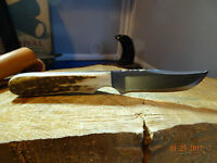"""ANZA 6 1/8"""" FIXED BLADE KNIFE, blade made from a file which has been annealed,"""